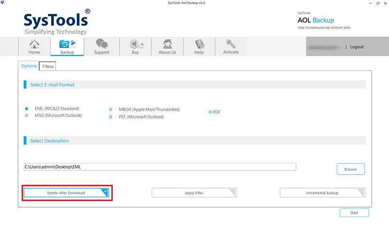 delete after download AOL messages
