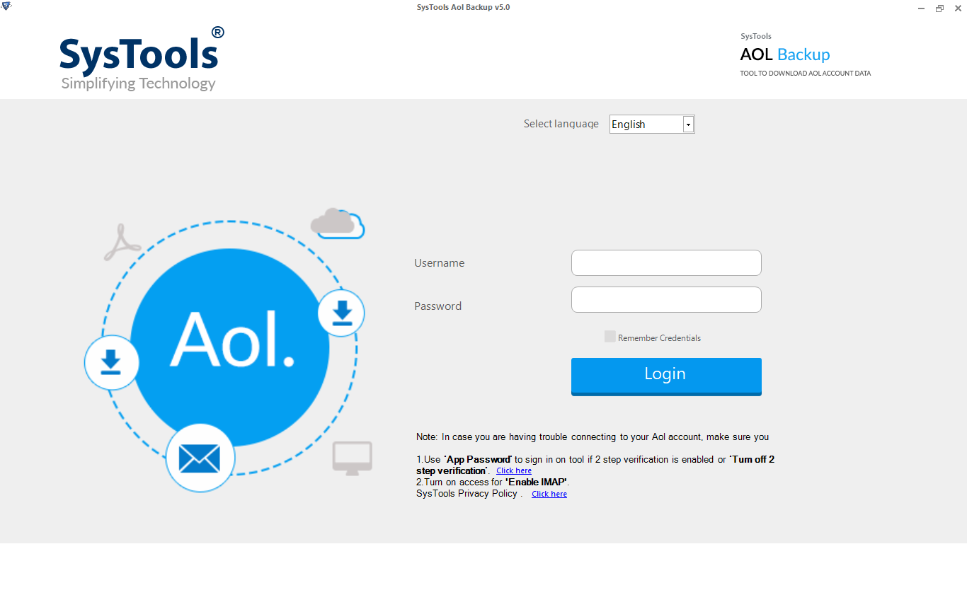 launch aol mail archive tool