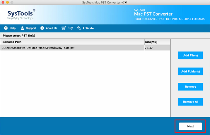 add pst files