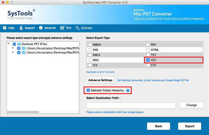 Import PST Contacts to iCloud via VCF